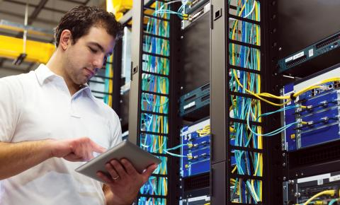 Networking specialist maintains an information technology infrastructure at a business.