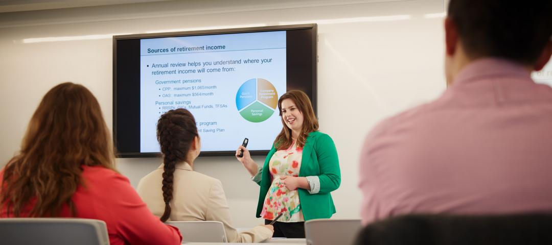Image of Sarah Ballam, a Continuing Education at George Brown College graduate in action.
